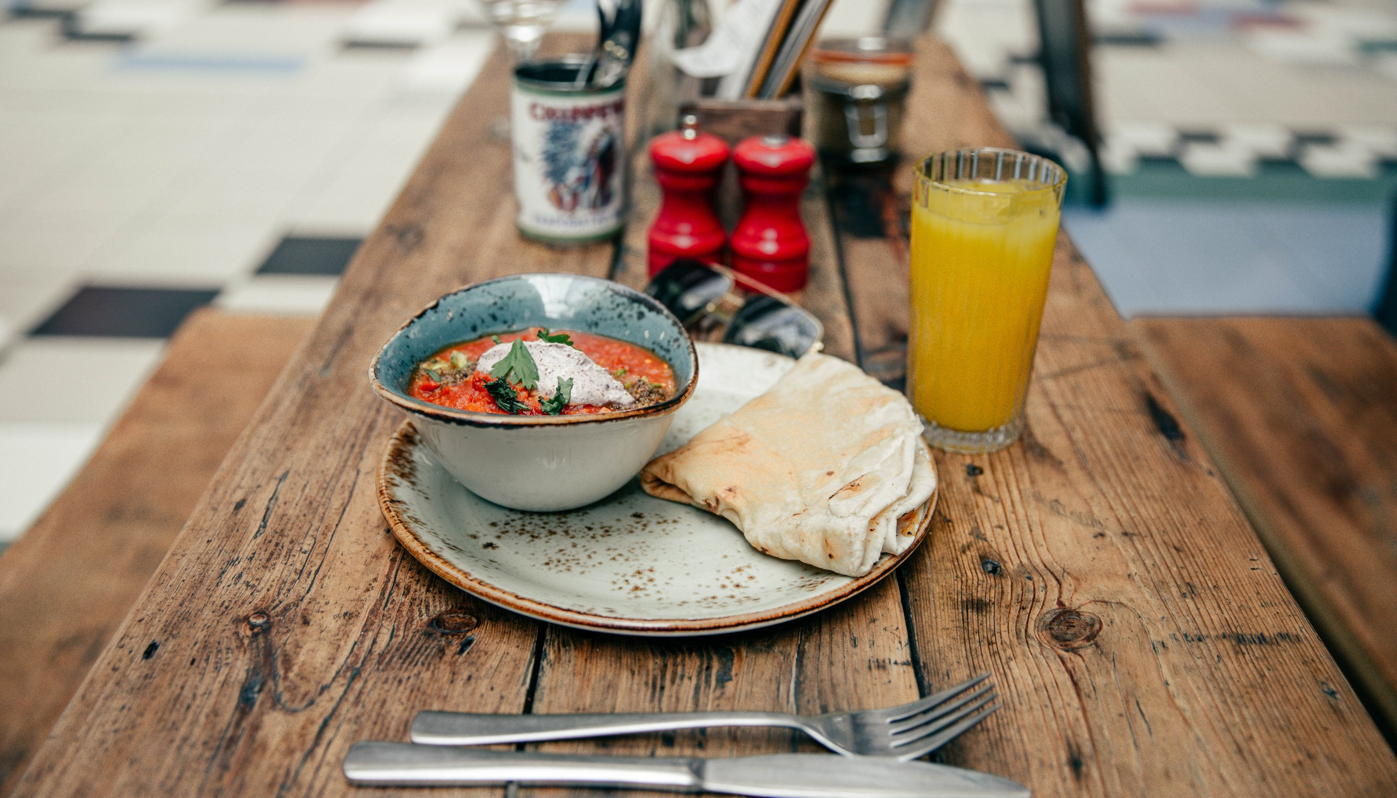 food image shot in Barton Arcade Manchester, the venue for Pot Kettle Black whose website we created