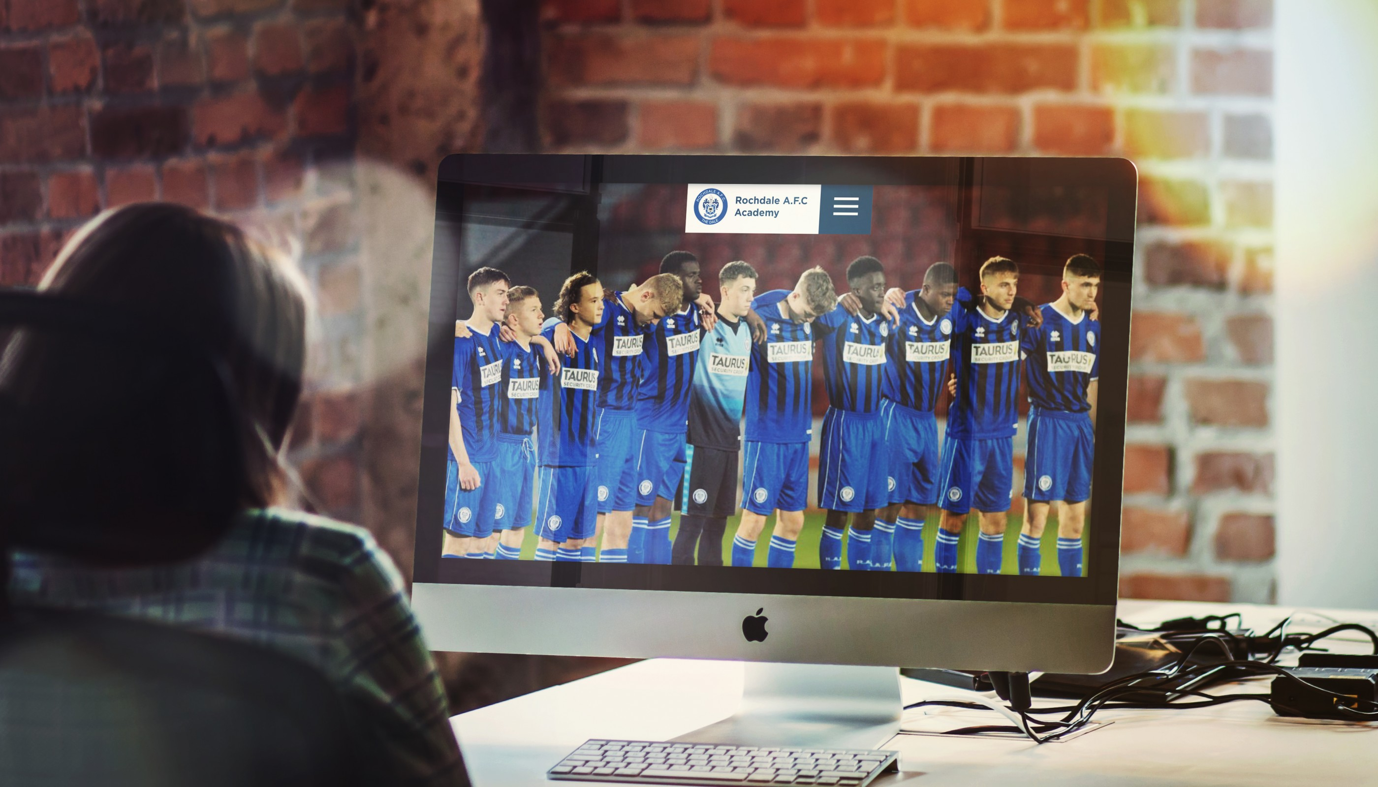 Rochdale Website Design for Rochdale AFC