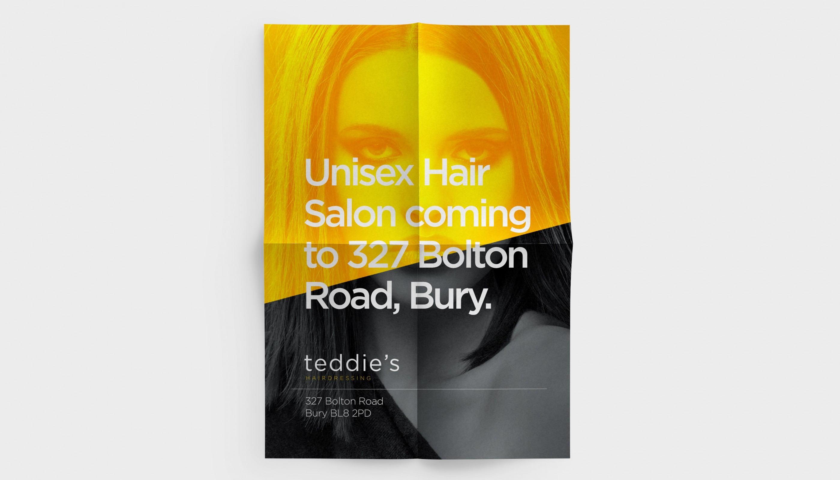 Printed Hair Salon poster artwork by Bury based graphic design studio Hypa Concept