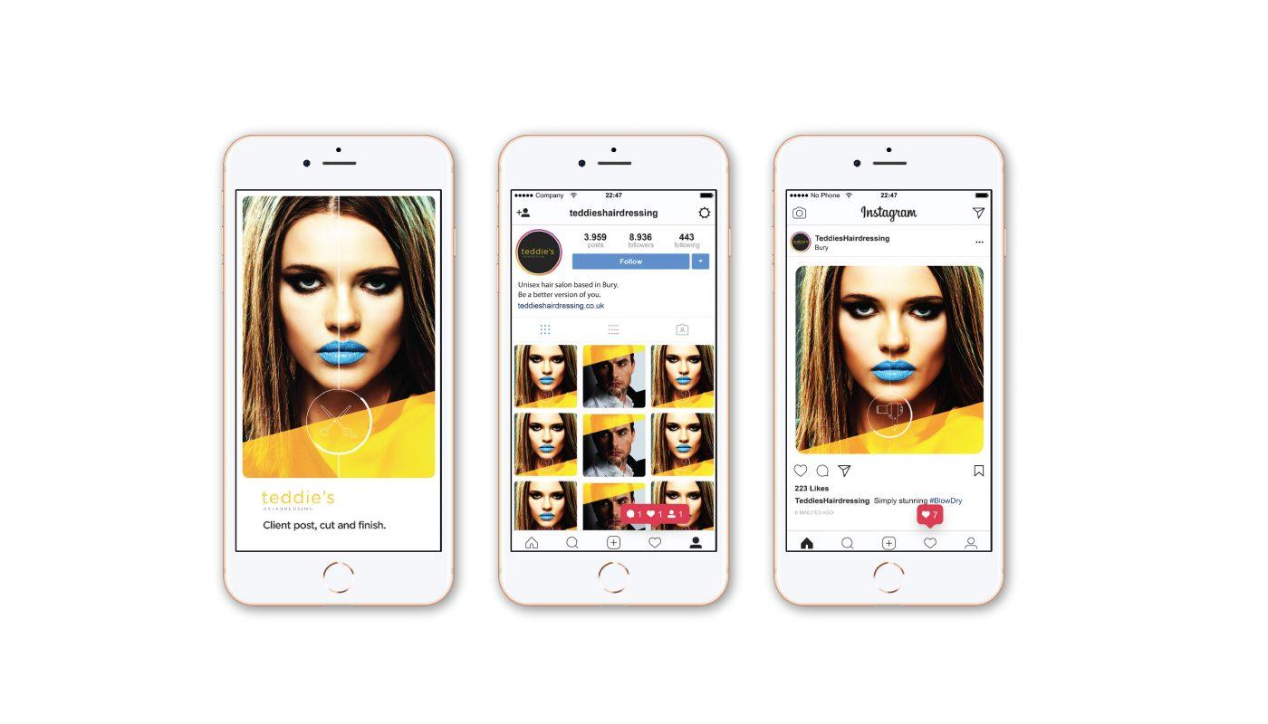 Instagram social media branding Bury
