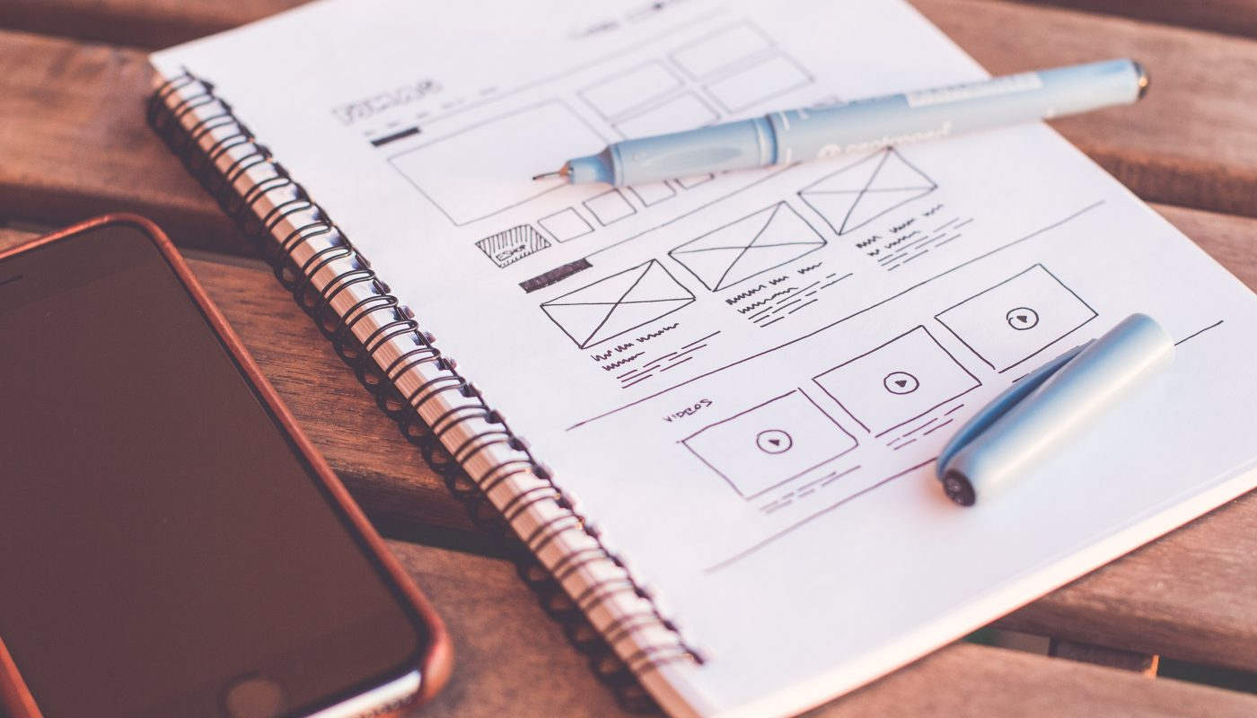 wireframing a website design bury.