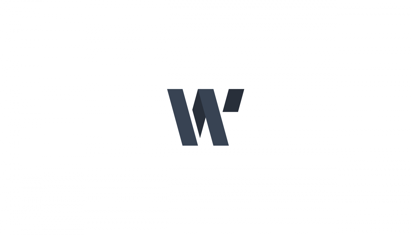 Letter W font design for 36daysoftype
