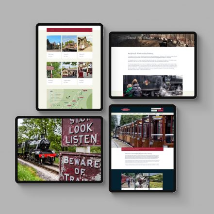 website created for KWVR based in yorkshire